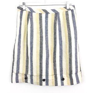 Anthropologie Edme & Esyllte Striped Linen Skirt